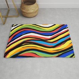 Wavy Colors Pattern Rug