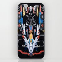 givenchy iPhone & iPod Skins featuring Givenchy Black Racing Car by V.F.Store