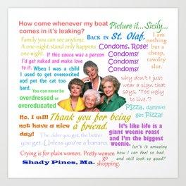 Golden Girl Quotes Kunstdrucke