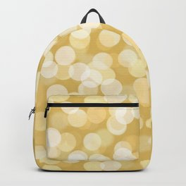 Abstract modern white gold bokeh pattern Backpack