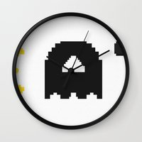 eat Wall Clocks featuring EAT by Adil Siddiqui