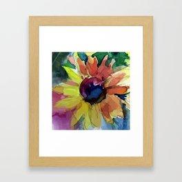 Autumn flower Framed Art Print
