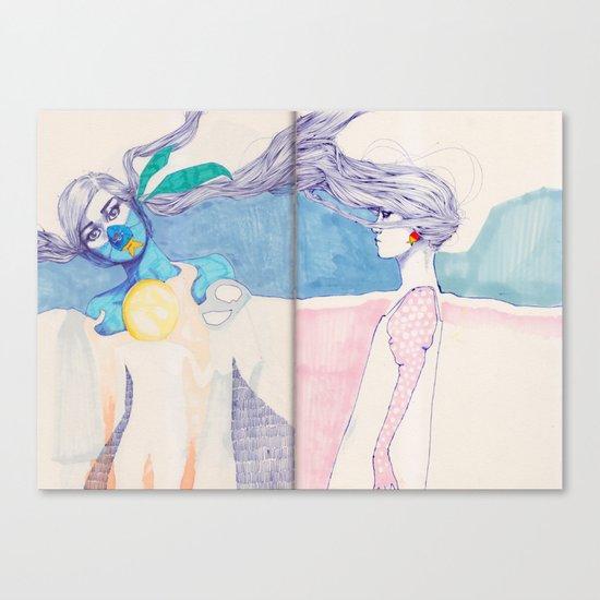 Hair Play 04 Canvas Print