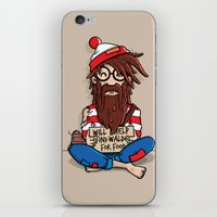 waldo iPhone & iPod Skins featuring Will help find Waldo for food by mebz art