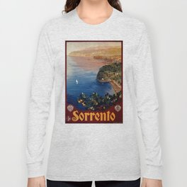 Italy Sorrento Bay of Naples vintage Italian travel Long Sleeve T-shirt