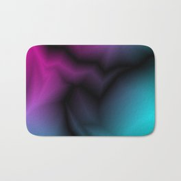 Cosmic sparkling hole of light blue zigzags and pink spots. Bath Mat
