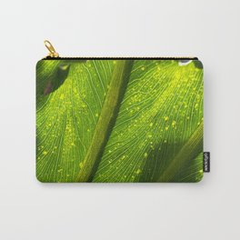 Spotted Leaf Carry-All Pouch