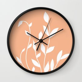 Simple  floral Wall Clock