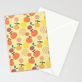 Orange Slice Pattern Stationery Cards
