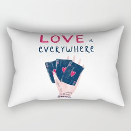 Love is everywhere Rectangular Pillow