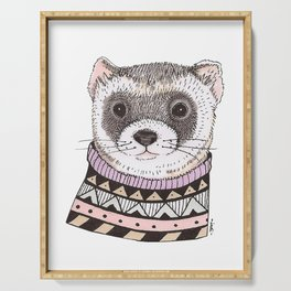 Hipster Ferret Serving Tray