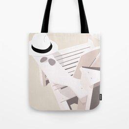 Monotoned beachday Tote Bag