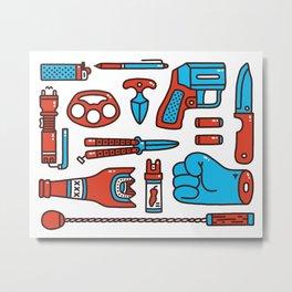 Street weapons Metal Print
