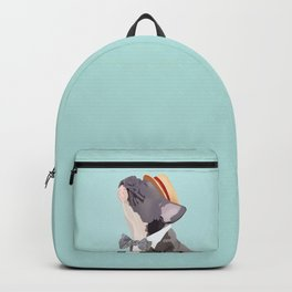 French Bulldog Singing His Heart Out, Barbershop Style Backpack