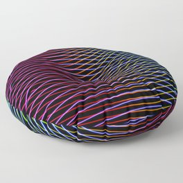 lines and patterns wing light painting Floor Pillow