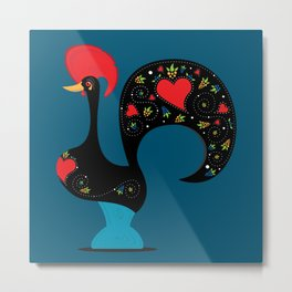 Good Luck Rooster of Barcelos Metal Print