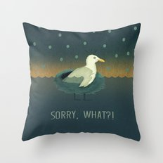 Sorry, what?! Throw Pillow