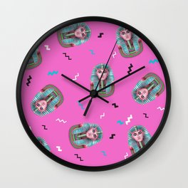 California Pink King Tut Wall Clock