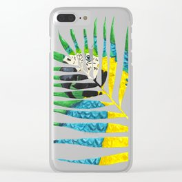 Parrot Palm Leaf Clear iPhone Case
