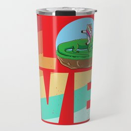 Unicorn Crocodil Alligator Vintage Retro Travel Mug