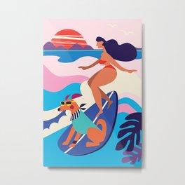 Surf dog Metal Print