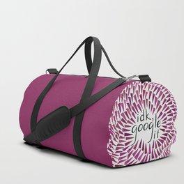 I don't know, google it - Burgundy Duffle Bag