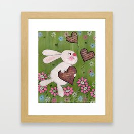 Some Bunny Loves You - Rabbit Delivers Love Letters Easter Kids Art Framed Art Print
