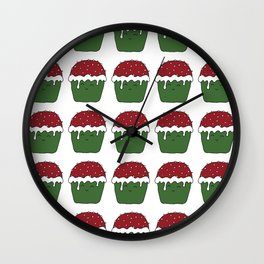 Christmas cupcakes Wall Clock