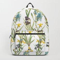 Vintage Floral Pattern | No. 2B | Iris Flowers | Irises Backpack
