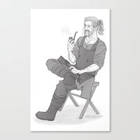fili Canvas Prints featuring forge fili by Ronnie