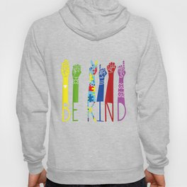 Autism Awareness Be Kind Sign Language Hand Talking Teachers Hoody