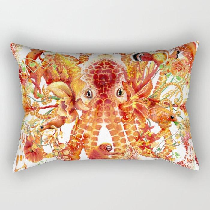 Tangerine Pattern Rectangular Pillow