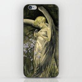Fairy in Irises iPhone Skin