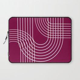 Minimalist Lines & Red BG Laptop Sleeve