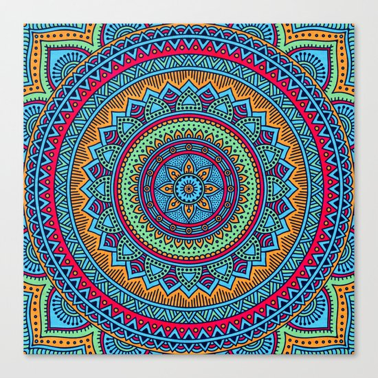 Hippie mandala 52 Canvas Print