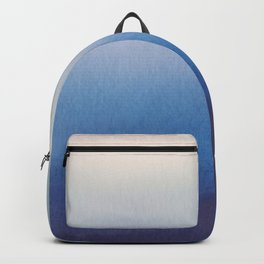 Ocean Mist - Abstract Watercolor Painting Blue and White Backpack