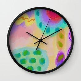 Colorful Abstract Digital Painting Wall Clock