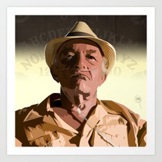 Breaking Bad Illustrated - Hector Salamanca Art Print