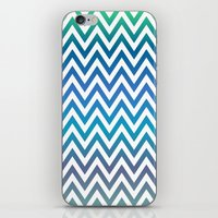chevron iPhone & iPod Skins featuring Chevron by David Zydd