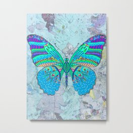 madame butterfly in blue Metal Print
