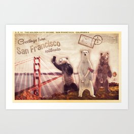 Postcard from the Bearbros Art Print