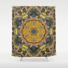 Kangaroo Paw Kaleidoscope Shower Curtain