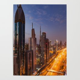 Dubai #society6 #decor #buyart Poster