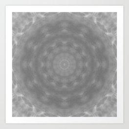 Kaleidoscope of Moody Storm Clouds Art Print