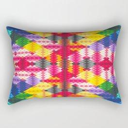 Rainbow Argyle Rectangular Pillow