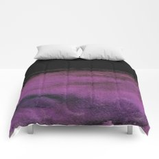 Purple and Black Comforters