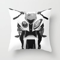 bmw Throw Pillows featuring BMW Motorcycle by SABIRO DESIGN