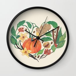 A Latte Love for Pumpkin Spice Wall Clock