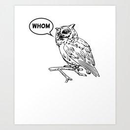 Analytical Owl Art Print