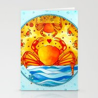 cancer Stationery Cards featuring Cancer by Sandra Nascimento